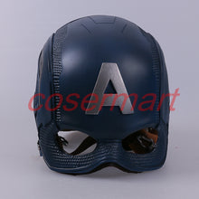 Load image into Gallery viewer, Cos Movie Superhero Civil War Captain America Helmet Cosplay Steven Rogers Mask PVC Man Adult Halloween Party Prop - bfjcosplayer