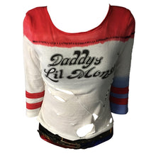 Load image into Gallery viewer, Batman Arkham Asylum City 2016 Suicide Squad Harley Quinn Costume T Shirt Daddy's Lil Monster T-Shirt Joker Cosplay Costumes - bfjcosplayer