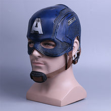 Load image into Gallery viewer, Cosplay Captain America Mask Avengers Infinity War Mask Halloween Helmet Latex Mask Cosplay Costume - bfjcosplayer