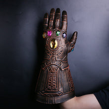 Load image into Gallery viewer, Cosplay Infinity Gauntlet Avengers Infinity War Thanos Gloves Gold Cosplay Studs Halloween Prop New - bfjcosplayer