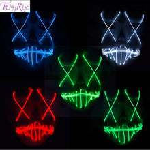 Load image into Gallery viewer, FENGRISE LED Mask Purge Halloween Funny Mask Glow In Dark Party Mask for Festival Cosplay Costume Supplies Bachelorette Decor - bfjcosplayer