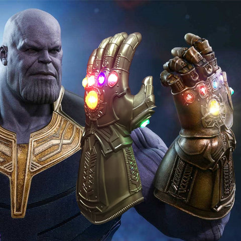 New Movie Avengers Infinity War LED Infinity Gauntlet Thanos LED Gloves Cosplay Props New - bfjcosplayer
