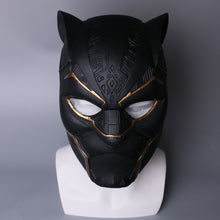 Load image into Gallery viewer, Black Panther Cosplay LED Glod PVC Helmet Halloween Party Props - bfjcosplayer