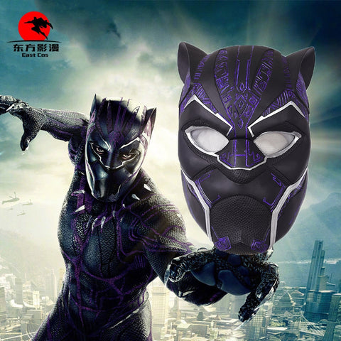 2018 Black Panther Helmet Avengers Infinity War Power Black panther Blue Black Panther Superhero Helmet PVC - bfjcosplayer