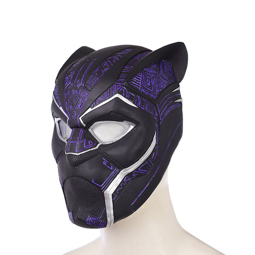 Black Panther Cosplay PVC Helmet Blue Black Panther Superhero Halloween Props - bfjcosplayer