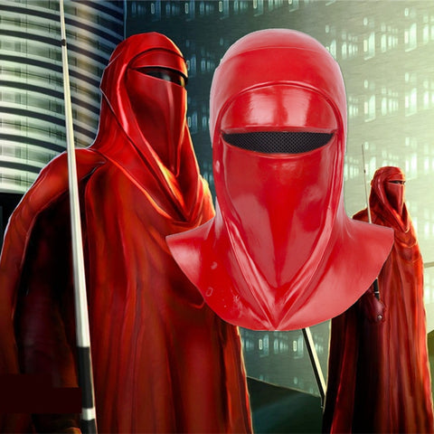 Star Wars Emperor's Royal Guard Soldiers Cosplay Mask Latex Full Head Red Helmet - bfjcosplayer