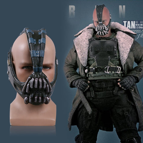 Bane Masks Batman Movie Cosplay Props The Dark Knight Latex Mask Fullhead Breathable for Halloween - bfjcosplayer
