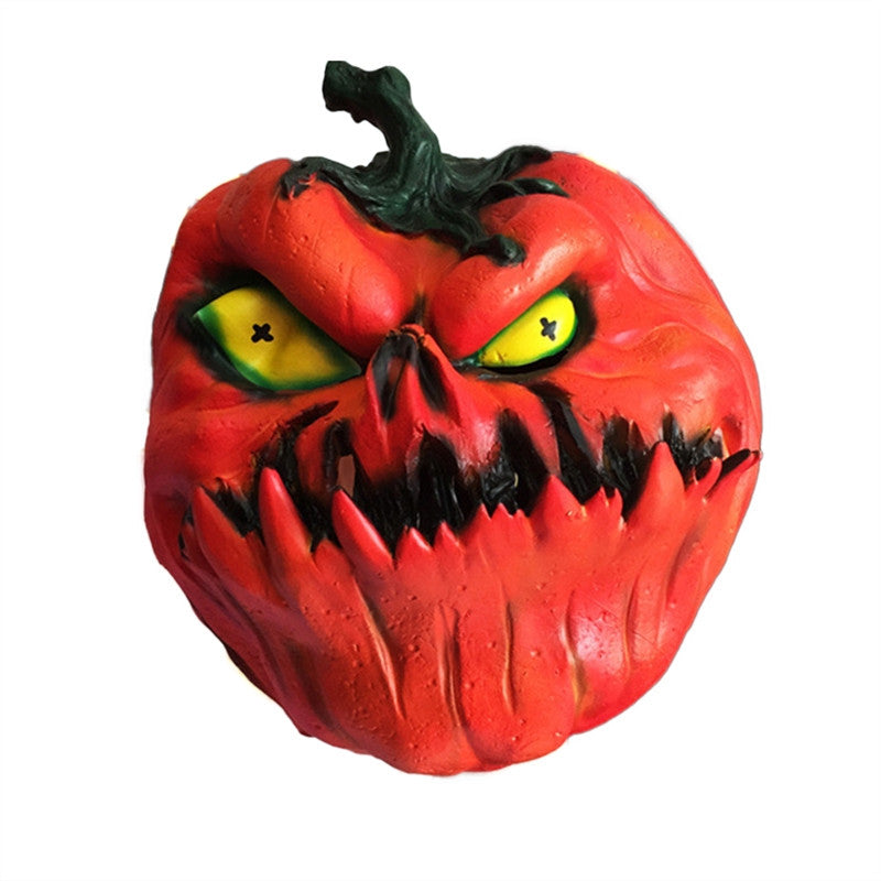 1PC Halloween Scary Horror Pumpkin Mask Cosplay Costume Latex Full Face Mask Accessory - bfjcosplayer