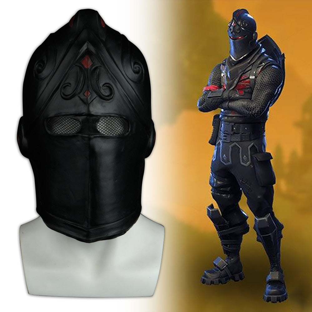 Game Fortniter Mask Cosplay Black Knight Legend Orange Skin Masks Latex Halloween Party Prop Dropshipping - bfjcosplayer