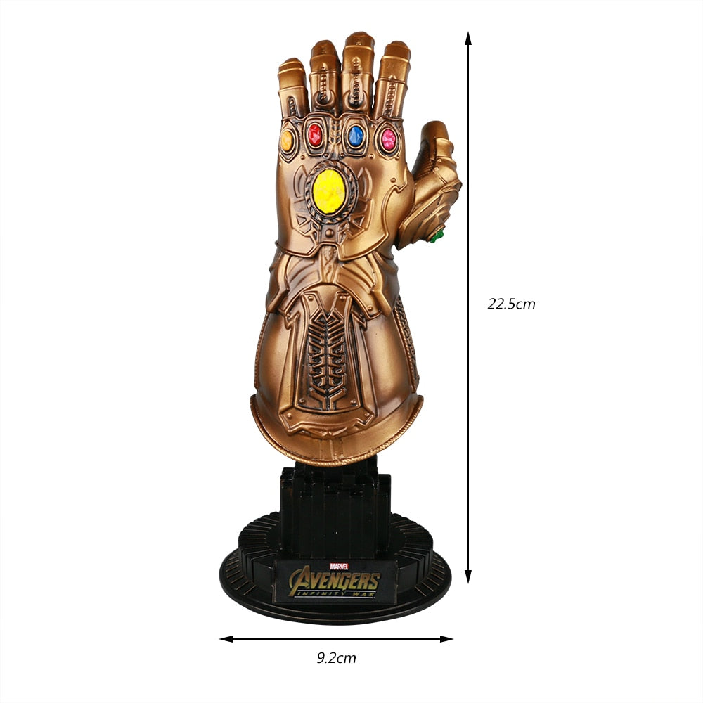 Thanos Infinity Gauntlet Avengers Infinity War Gloves Action Figure Cosplay Superhero Avengers Thanos Glove Halloween Party Prop - bfjcosplayer