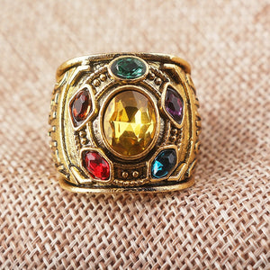 Avengers Infinity War Thanos Infinity Gauntlet Power Cosplay Alloy Ring - bfjcosplayer