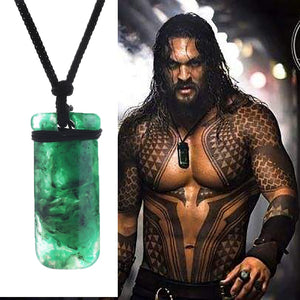 2018 Aquaman Cosplay Arthur Curry Necklace Green Pendant Aquaman Accessories Souvenir Gift Halloween party Prop - bfjcosplayer
