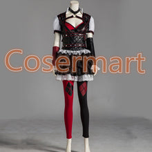 Load image into Gallery viewer, Batman Arkham Asylum Harley Quinn Halloween Carnival Cosplay Costumes Outfit Party Dress Dark Knight Suit for Adult Women - bfjcosplayer