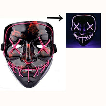 Load image into Gallery viewer, LED Mask Mascara Led Mask Light Up Neon Scary Skull Mask Glowing Party Festival Cosplay Costume - bfjcosplayer