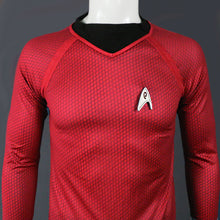 Load image into Gallery viewer, Star Trek in The Dark Captain Kirk Shirt Shape Cosplay Costume Red Version Size  For Men - bfjcosplayer