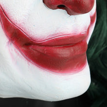 Load image into Gallery viewer, Joker Mask Cosplay Movie Horror Scary Smile Evil Clown Halloween Mask Latex Adult - bfjcosplayer