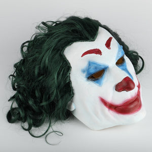 Joker Mask Cosplay Movie Horror Scary Smile Evil Clown Halloween Mask Latex Adult - bfjcosplayer