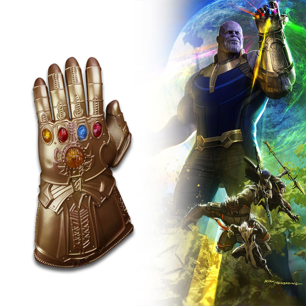 Thanos Infinity Gauntlet Avengers Infinity War Gloves With Led Light Cosplay Thanos Glove Halloween Party Props Deluxe - bfjcosplayer
