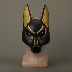 Egyptian Anubis Cosplay Latex Helmet Halloween Fancy Props - bfjcosplayer