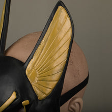 Load image into Gallery viewer, Egyptian Anubis Cosplay Latex Helmet Halloween Fancy Props - bfjcosplayer