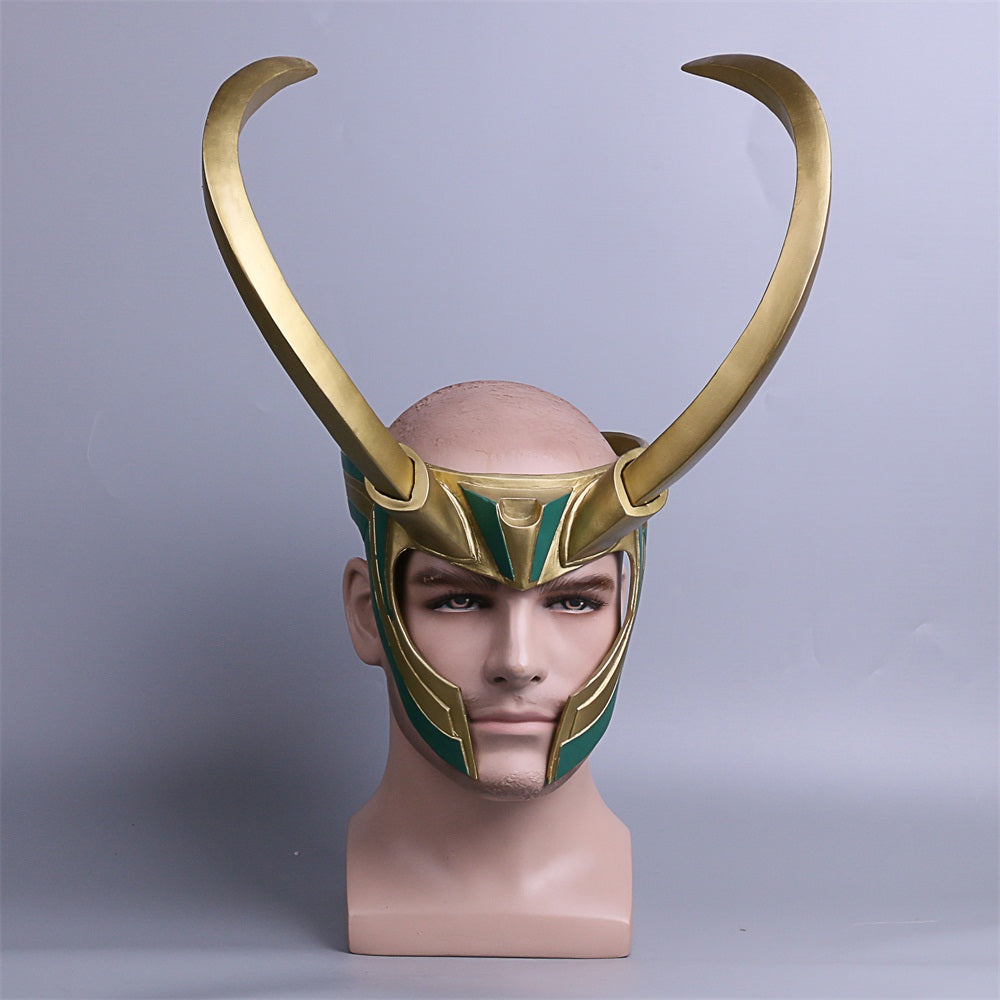 Thor Loki Ragnarok Helmet Cosplay Costume Props Mask PVC Full Head Detachable Mask Adult Halloween Masks for Parties - bfjcosplayer
