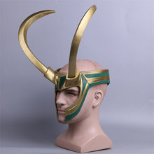 Load image into Gallery viewer, Thor Loki Ragnarok Helmet Cosplay Costume Props Mask PVC Full Head Detachable Mask Adult Halloween Masks for Parties - bfjcosplayer