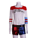 Load image into Gallery viewer, 2016 Movie Cosplay Suicide Squad Harley Quinn Costume T Shirt Daddy's Lil Monster T-Shirt Joker Cosplay Costumes Full Set - bfjcosplayer
