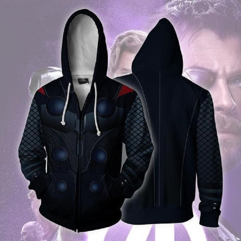 2019 Avengers: Endgame Hoodie Cosplay Costume Thor Sweatshirts Jacket Coat Avengers Dressed Halloween Party Porp - bfjcosplayer