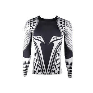 Aquaman Compression Shirt Man 3D Printed T shirts Men 2018 Newest Comics Cosplay Costume Long Sleeve Tops For Male Fitness Cloth - bfjcosplayer