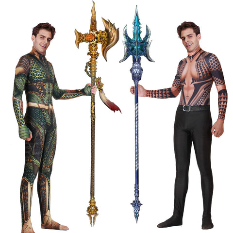 Marvel Aquaman Cosplay Halloween Costume Zentai 3D Print Arthur Curry Orin Superhero Bodysuit Suit Jumpsuits Cloak