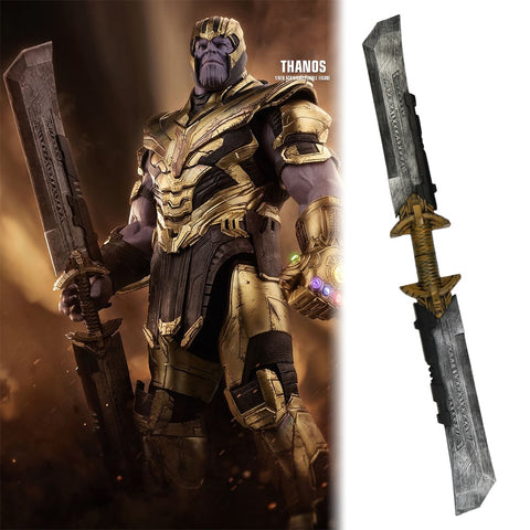Avengers: Endgame Thanos Double Edged Sword Weapon Detachable Cosplay Thanos Costume Armor Halloween Party Prop - bfjcosplayer