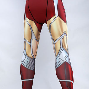 Avengers: Endgame Costume Iron Man Tony Stark Pants Cosplay Costumes Top Men Tights Sports Love You Three Thousands Times - bfjcosplayer