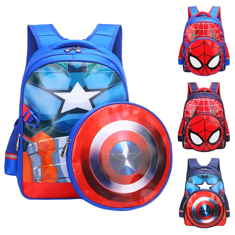 Avengers: Endgame Cosplay Captain America Backpack Bags Steve Rogers Spiderman Students Decompression Bag Kids Superhero Cosplay - bfjcosplayer