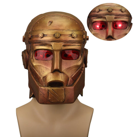 Anime Doom Patrol Mask Robotman LED Latex Helmet Halloween Superhero Mask Cosplay Prop - bfjcosplayer