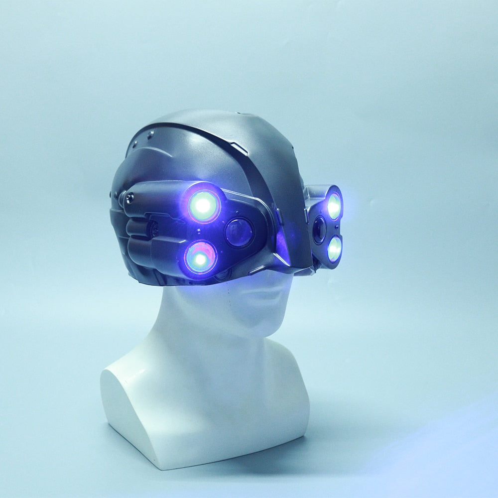 Cyber punks 2077 LED PVC Helmet Cosplay MAX-TAC the Psycho Squad Halloween Party Prop - bfjcosplayer