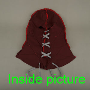 BrightBurn Red Hood Kids Cosplay Scary Horror Mask Costumes Halloween Mask Full Head Breathable Props - bfjcosplayer