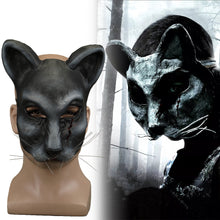 Load image into Gallery viewer, 2019 Movie Pet Sematary church Cat Mask Ellie's cat Cosplay Animal Masks Scary Horror Halloween Party Mask Latex Adult Prop - bfjcosplayer