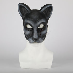 2019 Movie Pet Sematary church Cat Mask Ellie's cat Cosplay Animal Masks Scary Horror Halloween Party Mask Latex Adult Prop - bfjcosplayer