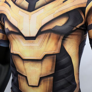 Thanos 3D Printed T shirts Men Avengers 4 Endgame Compression Shirt 2019 Summer Cosplay Costume Tights Short Sleeve Tops Male - bfjcosplayer