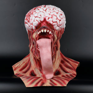 Residents RE Evils Rotten Horror Zombie Mask Long Tongue Haunted House Secret Room Scary Bloody Latex Eye Mask Cosplay Halloween - bfjcosplayer