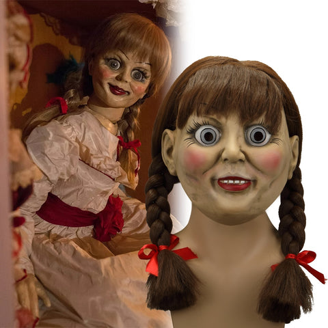 2019 The Conjuring Annabelle Mask Latex Cosplay Halloween Scary Movie Adult Mask Props - bfjcosplayer