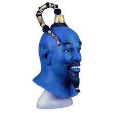 Load image into Gallery viewer, Cosplay 2019 Movie Aladdin and The Magic Lamp Mask Latex Blue Elf Halloween Mask Props - bfjcosplayer
