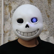 Load image into Gallery viewer, Undertale Sans Latex Helmet Led Light Adult Cosplay Halloween Prop - bfjcosplayer