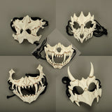 New The Japanese Dragon God Mask Eco-friendly and Natural Resin Mask for Animal Theme Party Cosplay Animal Mask Handmade - bfjcosplayer