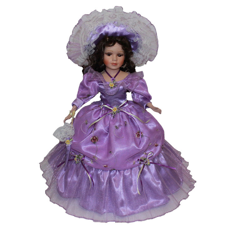Purple Victoria Europe Ornaments  Figure Model Doll Toys Child Gift Cute Princess Europe Handicrafts