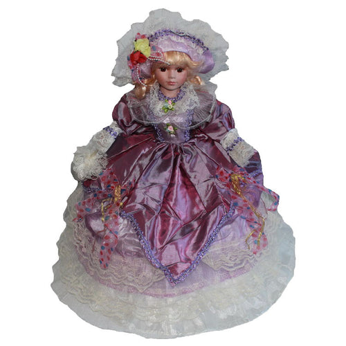 Purple Big skirt doll Europe Ornaments  Figure Model Doll Toys Child Gift Cute Princess Lace Victoria