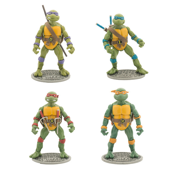 Teenage Mutant Ninja Turtles Ornaments  Figure Model Doll Toys Child Gift Cute A set of 4 dolls