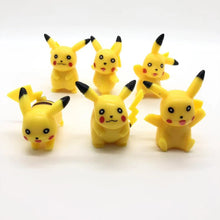 Load image into Gallery viewer, Pokémon Ornaments  Figure Model Doll Toys Child Gift Cute Pikachu A set of 6 dolls