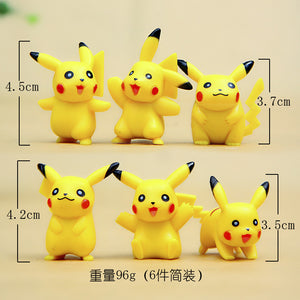 Pokémon Ornaments  Figure Model Doll Toys Child Gift Cute Pikachu A set of 6 dolls