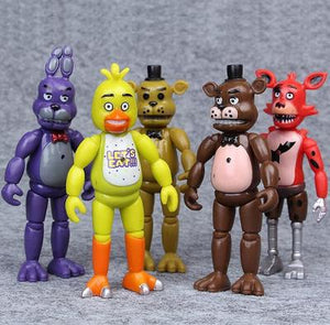 Five Nights at Freddy's Ornaments  Figure Model Doll Toys Child Gift Cute Set of 5 dolls
